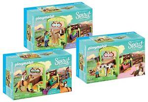 Jeu de boîtes à chevaux Playmobil® Spirit: 9478 9479 9480 - Nouveau, Ovp