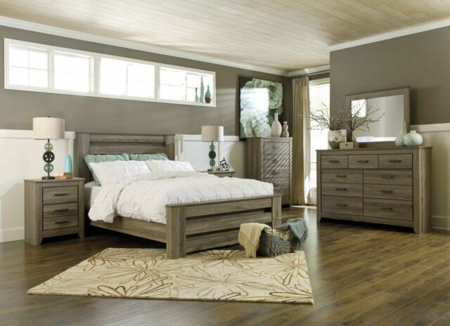 Ashley Furniture Zelen Queen 6 Piece Poster Bed Set