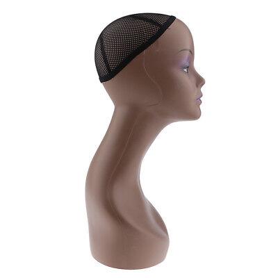 2x Hat Wig Cap Display Holder Stand Wooden Mannequin Manikin Head Model Rack