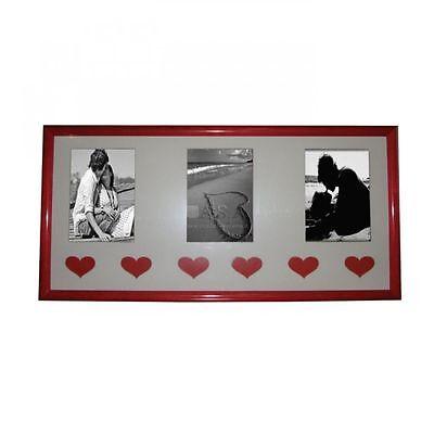 Cornice Love Foto 10x15 Portafoto Guidi Rossa Multipla Tre 3 Con Cuori Cor 12-20
