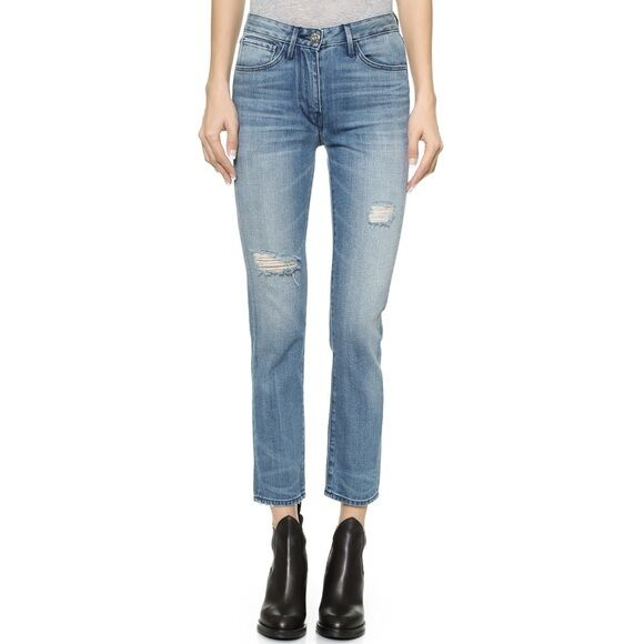 3x1    W3 High Rise Straight Crop McQueen Jeans    Size 27