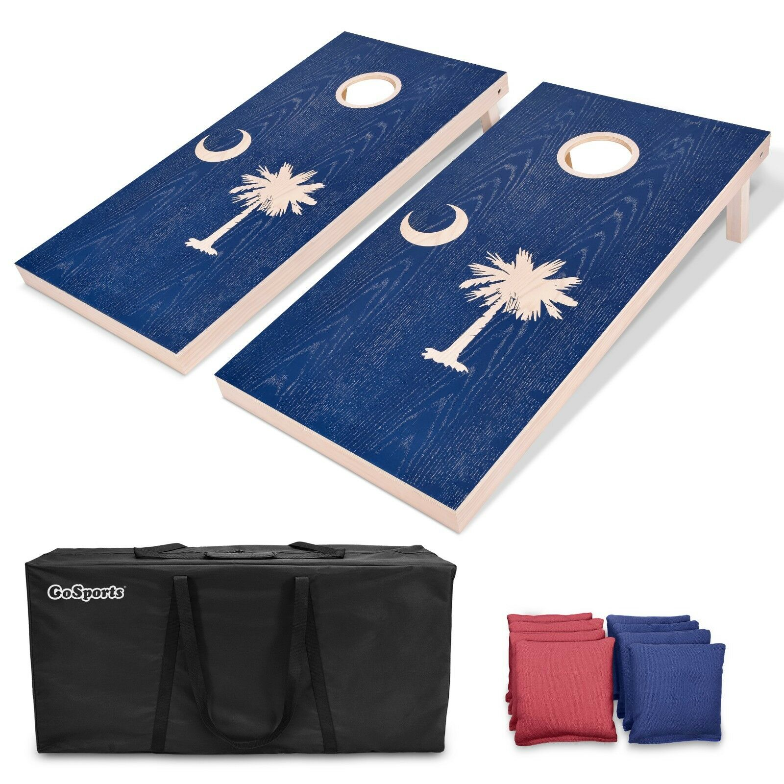 GoSports South Carolina Regulation Size 4'x2' Solid Wood Cornhole Set