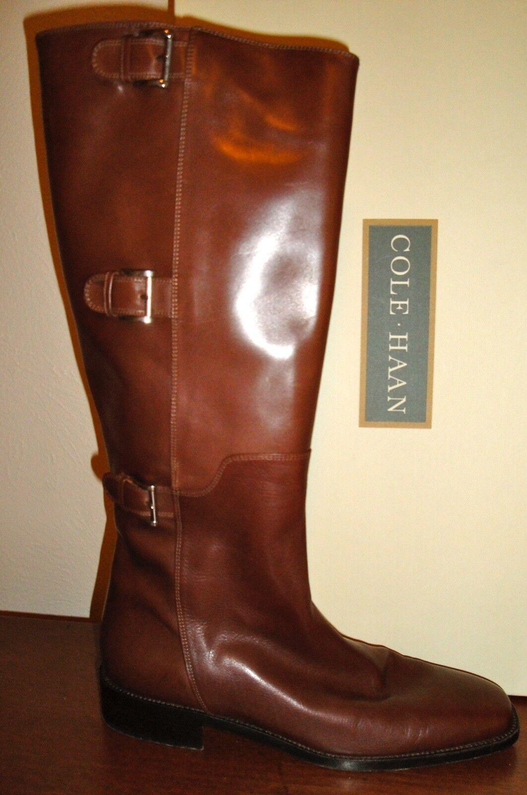 Cole Cole Cole Haan botas De Cuero Genuino, hecho en Italia, tamaño 8AA En Excelente Estado 594c36