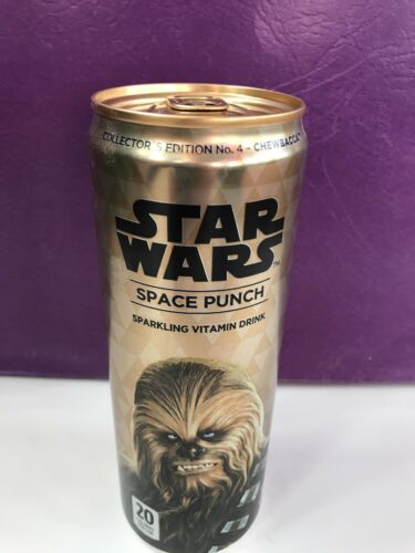 FULL NEW STAR WARS SPACE PUNCH #4 CHEWBACCA COLLECTORS CAN