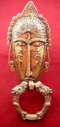Tribal Woman Face Shape Vintage Antique Style Handmade Brass Door Knocker Knob 2