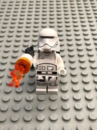 NEW LEGO Star Wars Minifig First Order Flame Trooper with gear//blaster 75166