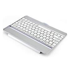 White/Silver Slim Aluminum Wireless Bluetooth Keyboard Case for iPad 5 iPad Air