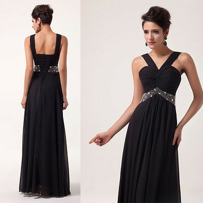 VINTAGE SALE>> Long Formal Evening Ball Gown Party Prom Bridesmaid Dress Wedding