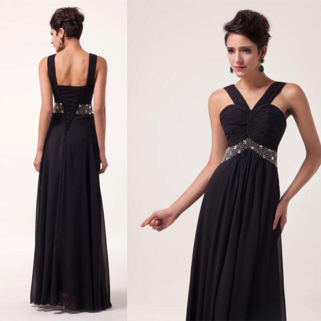 Abendkleider lang schwarz 44