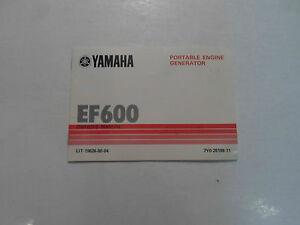 1983 yamaha ef600 portable engine generator owners manual for Ef600 yamaha generator