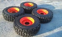 4 12x16.5 Skid Steer Tires & Rims For Bobcat-12-16.5 12 Ply-non Directional
