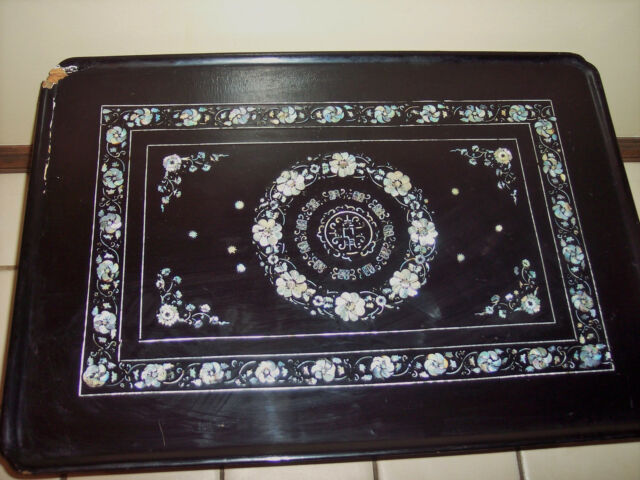 Awe Inspiring Korean Wood Coffee Table Mother Pearl Asian Carved Inlaid Oriental Lacquer Black Pdpeps Interior Chair Design Pdpepsorg