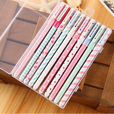10pcs/lot Colorful 0.38mm Gel Pen Cute Pens Student Office Accessories
