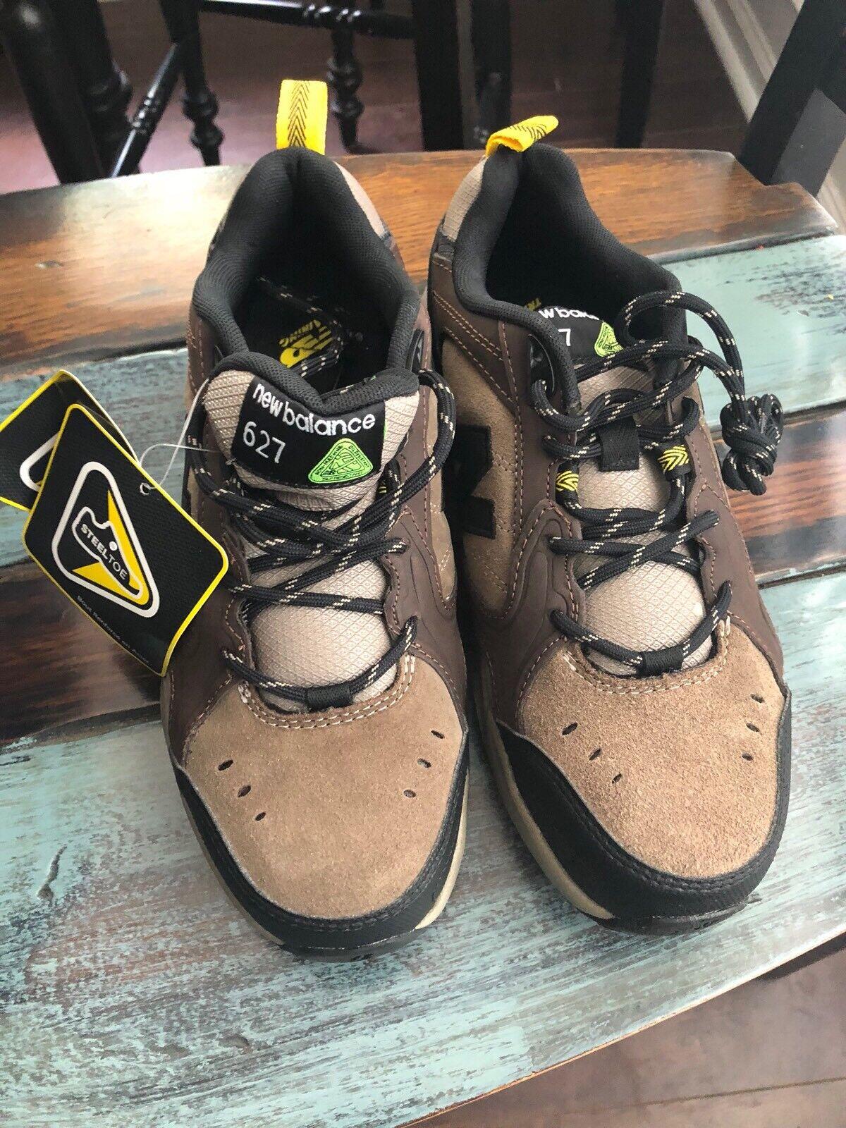 Scarpe casual da uomo New Balance MID6270 Steel Toe Slip Resistant Suede Brown Work Shoe uomo Size 7