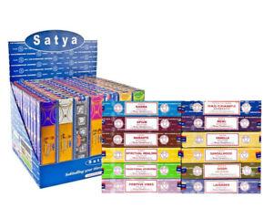 1 pack of SATYA Incense Nag Champa Agararbati Genuine Joss 15g Insence Sticks