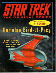 Star-Trek-Clasico-Hacer-Tu-Propio-Nave-Romulan-Libro-Papel-Kit-de-Modelismo