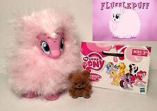 My Little Pony G4 FLUFFLE PUFF Custom Brushable (POMF!) w/ Fuzzy Teddy Bear LOT