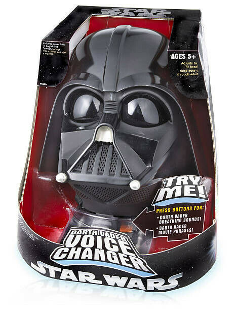 Cambiador de voz de Darth Vader Casco Nuevo Y En Caja Extremamujerte Raro