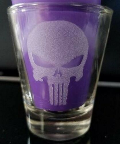 Punisher Skull Laser Engraved Shot Glass
