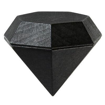 NEW Areaware Diamond Box Large Black - Fancy Engagement RING case - NEW NIB
