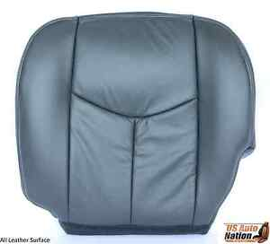 2005 2006 chevy silverado 2500hd duramax leather seat cover dark gray driver 718610494347 ebay. Black Bedroom Furniture Sets. Home Design Ideas