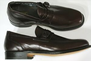 New Vtg E T WRIGHT Monk Strap Shoes Loafers 8E Wide Burgundy Arch Preserver