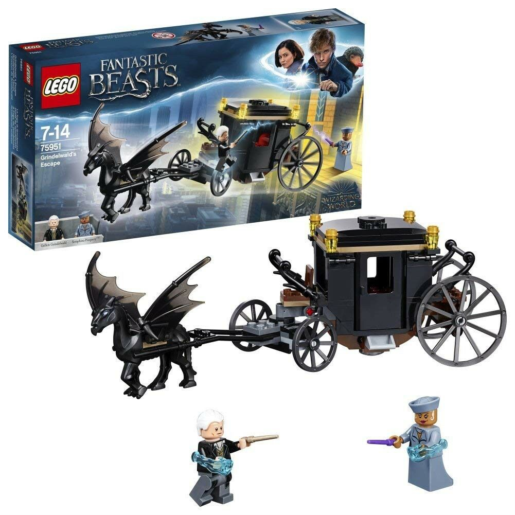 THE ESCAPE OF GRINDELWALD Railway carriage Buildings LEGO Animals Fantastic
