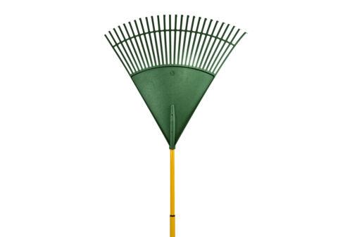 Ritter Laubrechen Megaleaf XL 80 cm Breite grün Laubbesen Fecherbesen 26 Zinken