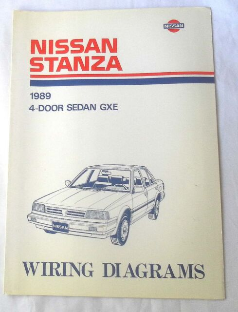 1989 Nissan Stanza Gxe Wiring Diagrams Manual
