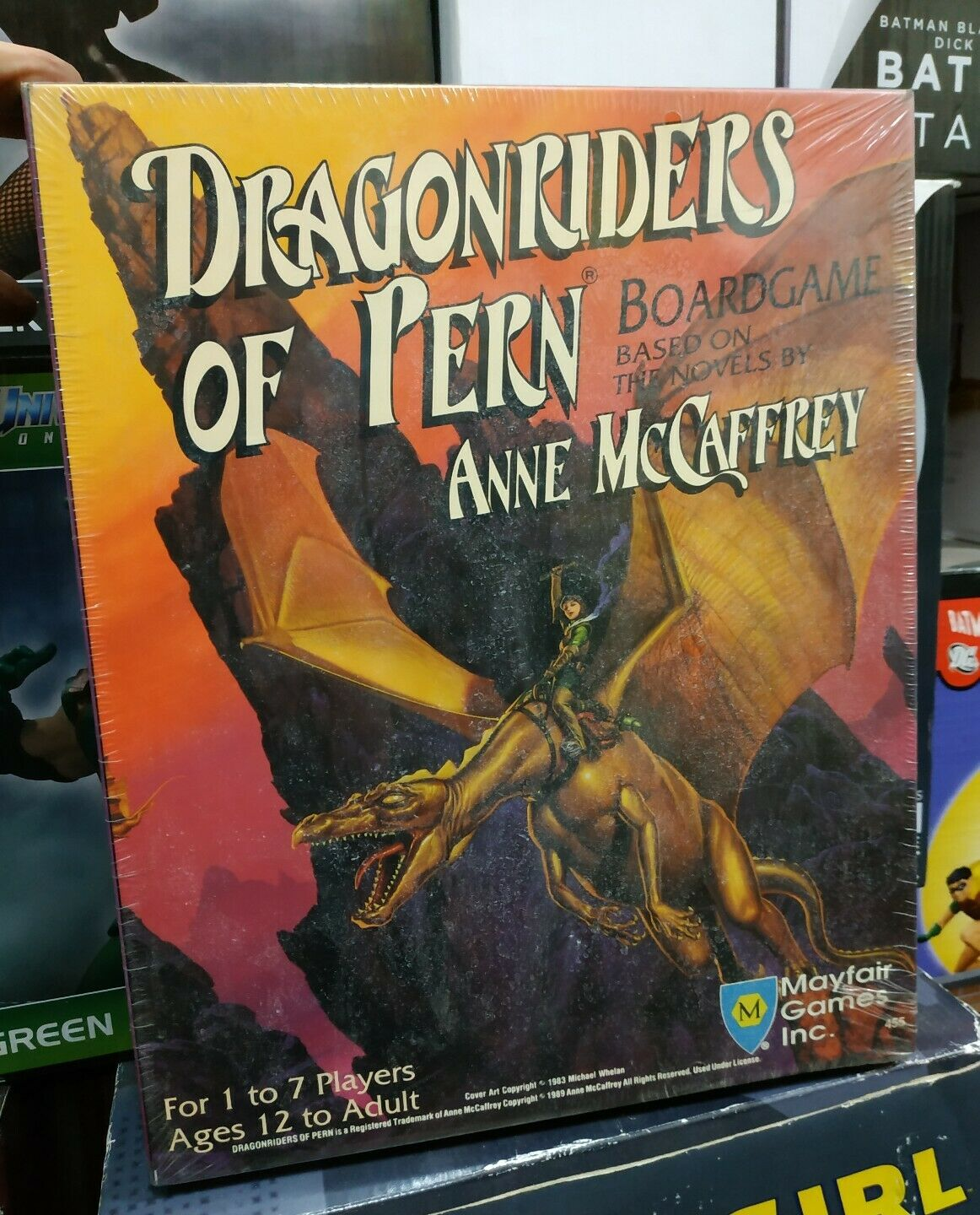 Dragonriders Of Pern Boardgame Mayfair Games Inc. Anne McCaffrey