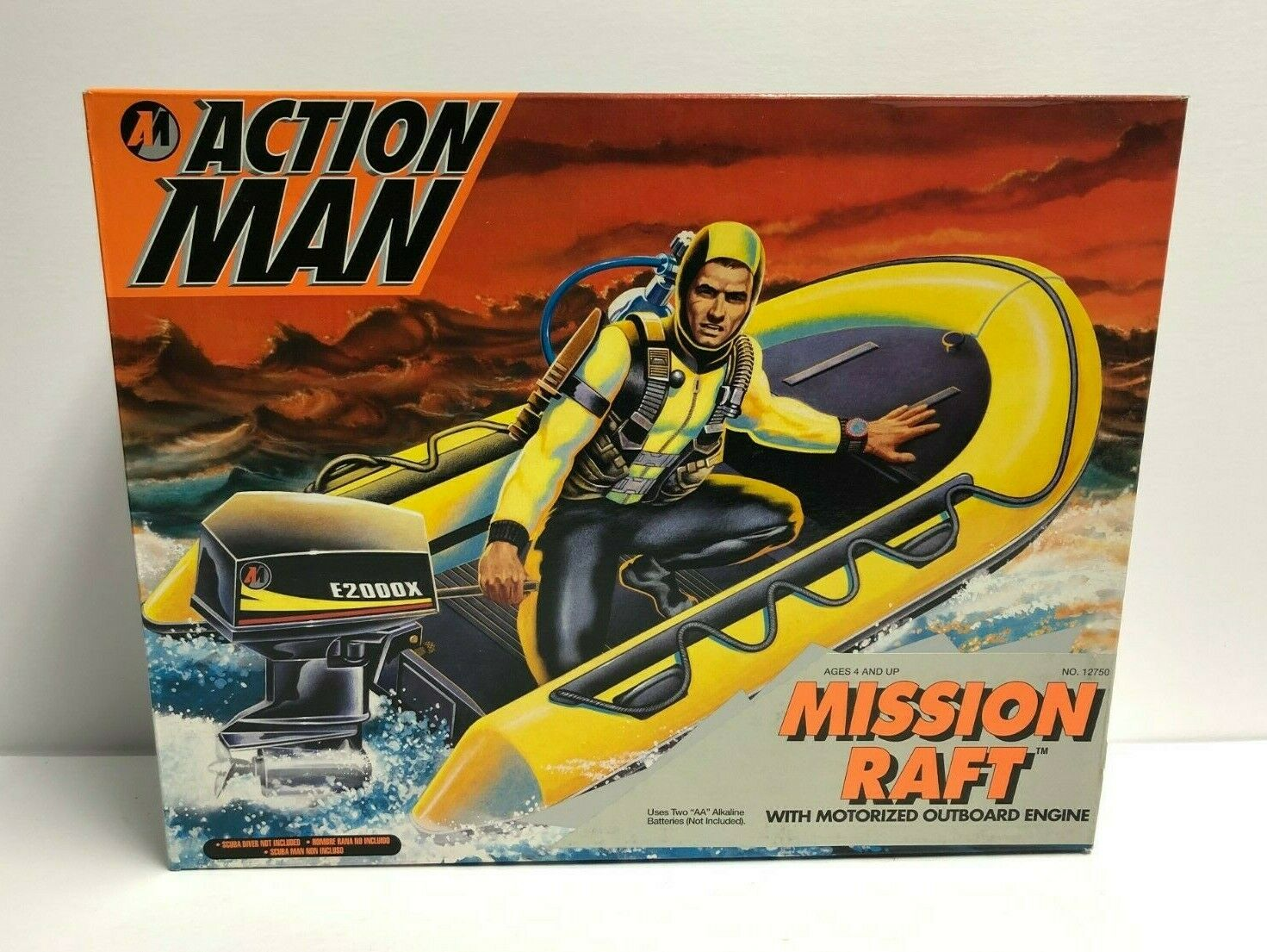 MISSION  RAFT 1993 Kenner azione uomo with motorized outtavola engine NOS  consegna veloce