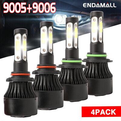 9005 HB3+9006 HB4 LED Headlight Bulbs For 2005 2006 2007 2008 2009 Chrysler 300C
