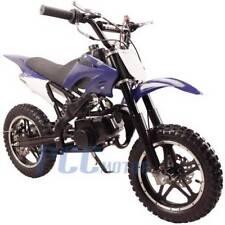 FREE SHIPPING KIDS 49CC 2 STROKE GAS MOTOR DIRT MINI POCKET BIKE BLUE I DB50X