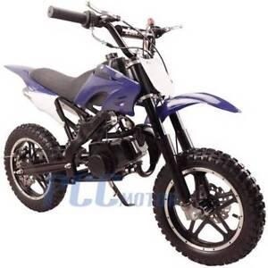 FREE-SHIPPING-KIDS-49CC-2-STROKE-GAS-MOTOR-DIRT-MINI-POCKET-BIKE-BLUE-I-DB50X