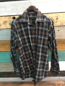 Scott-Barber-Button-Up-Shirt-Men-039-s-Size-Large-Plaid-Checks-Long-Sleeve