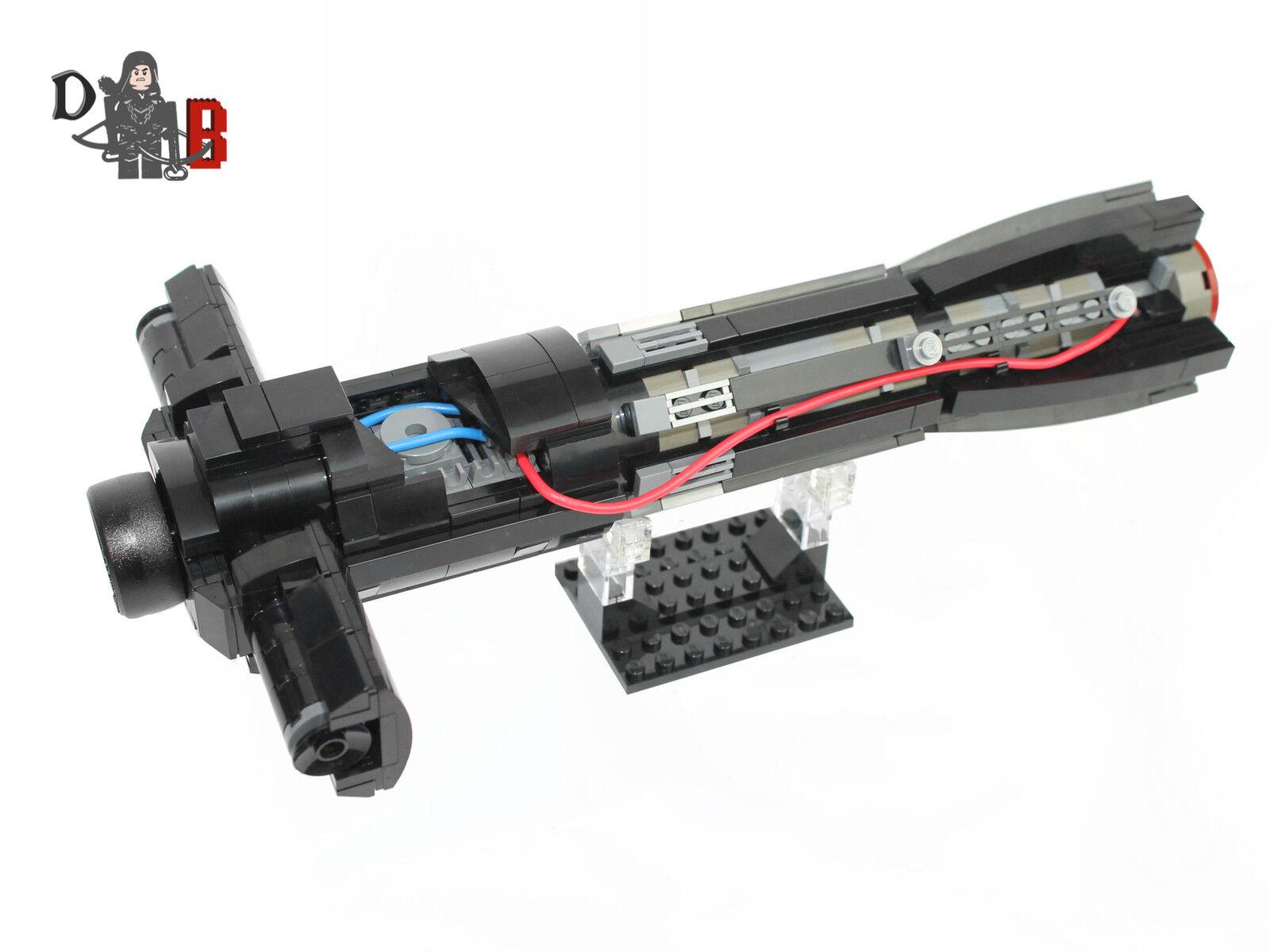 STAR Wars kylo REN TFA CUSTOM famosa spada laser inverosimile effettuate utilizzando le parti LEGO