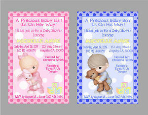 Image Is Loading Precious Moments Custom Or Boy Baby Shower