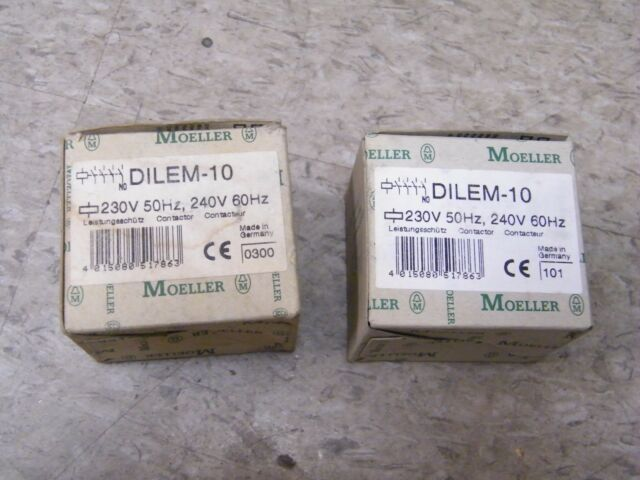 NEW IN BOX * KLOCKNER MOELLER DILEM-10 CONTACTOR 24V