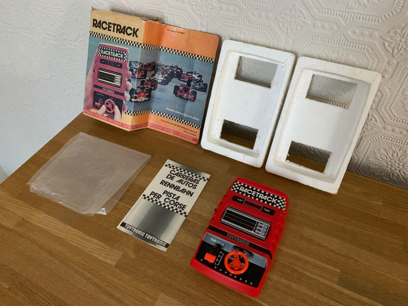 Ultra Raro en Caja Juguetetronic hipódromo Vintage 1980 LED juego electrónico-Nr Menta.