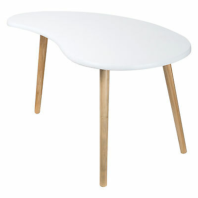 Brand New Drop Shape White Solid Wood Side Bedside Tea Home Table Kitchen Coffee