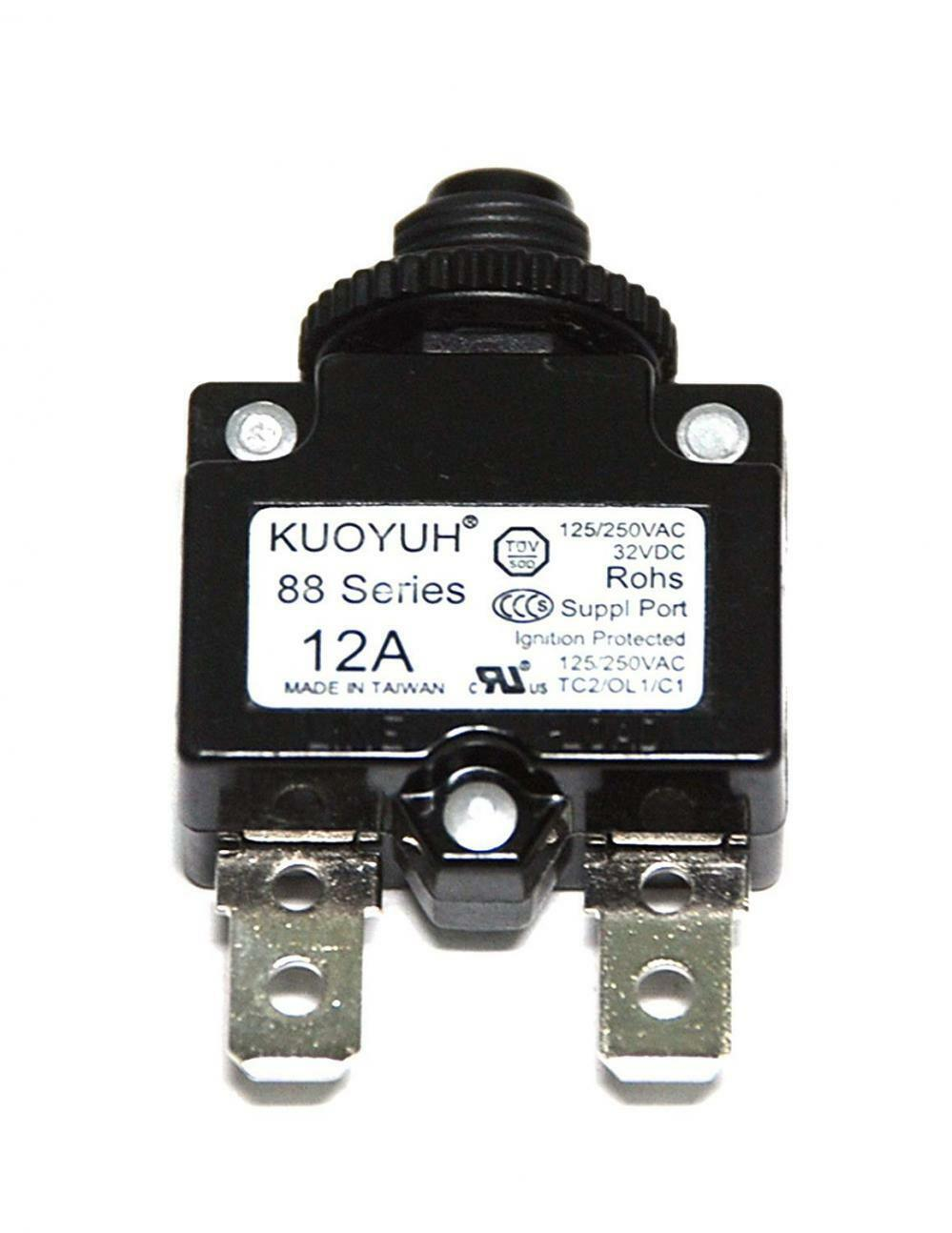 KUOYUH Circuit Breaker 88 series 125//250VAC 50//60Hz 13 Amp – 1pc