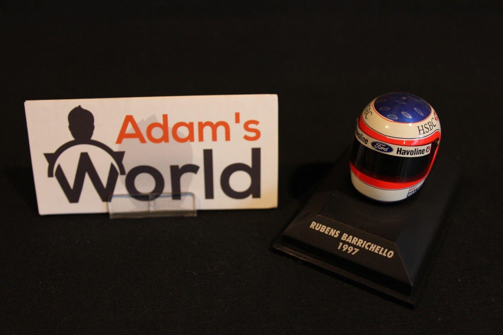 Minichamps Helmet Rubens Rubens Rubens Barrichello (BRA) 1997 1 8 Stewart F1 (MM1) de230f