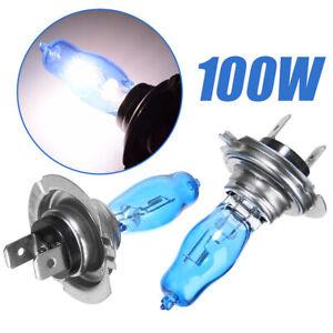 2pcs h7 6000k xenon gas halogen headlight white car light lamp bulbs 100w 12v ebay. Black Bedroom Furniture Sets. Home Design Ideas