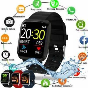 Wasserdicht-Smartwatch-Bluetooth-Armbanduhr-Fitness-Tracker-Herzfrequenzmessung