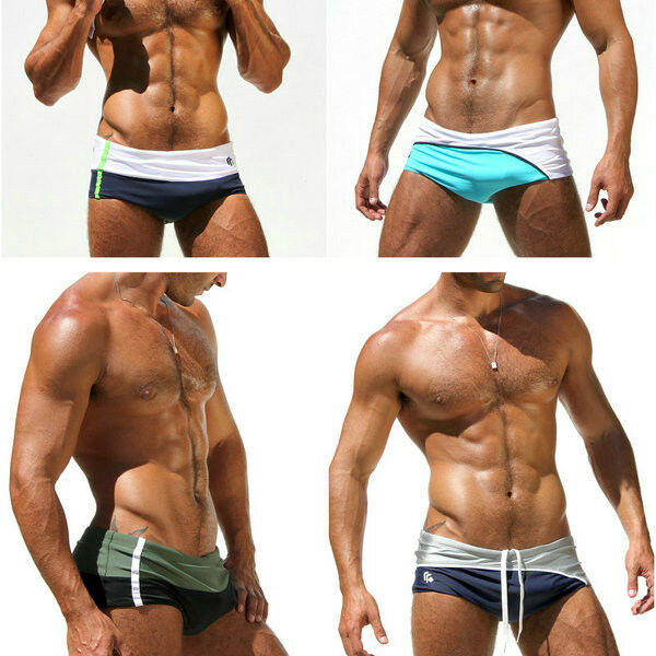 Fashion Men's sexy low-waist Boxer Swimming Swim Trunks Swimwear XXL XL L M