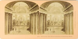 Russie st.Petersburg Cattedrale Kazan, Foto Stereo Vintage Albumina PL62L3