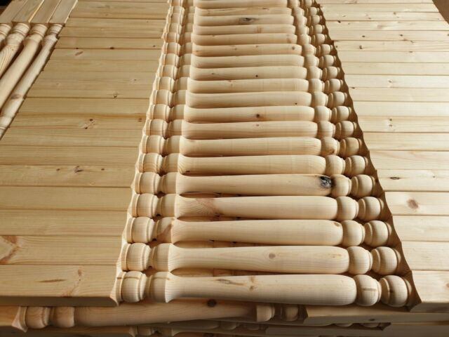 20 x Softwood pine  41mm THICK  Edwardian  Stair Spindles 90cm tall