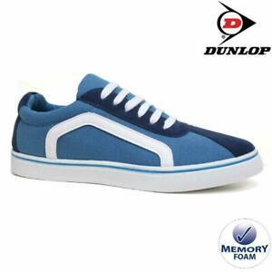 MENS-DUNLOP-MEMORY-FOAM-BLUE-NAVY-CANVAS-PLIMSOLLS-PUMPS-SHOES-TRAINERS-UK-7-12