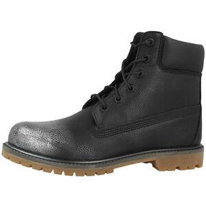 Zapatos Metálico Pulgadas 6 Premium 8555b Botas Black Timberland Women Plata OqX8wx58d
