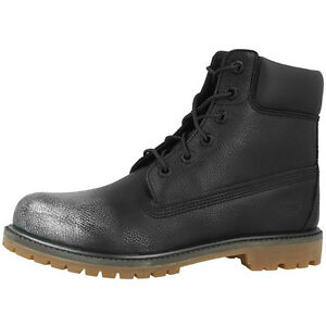 6 Stivali Scarpe Premium Boots Timberland Pollici Nero Donne Argento gAwvOxdq